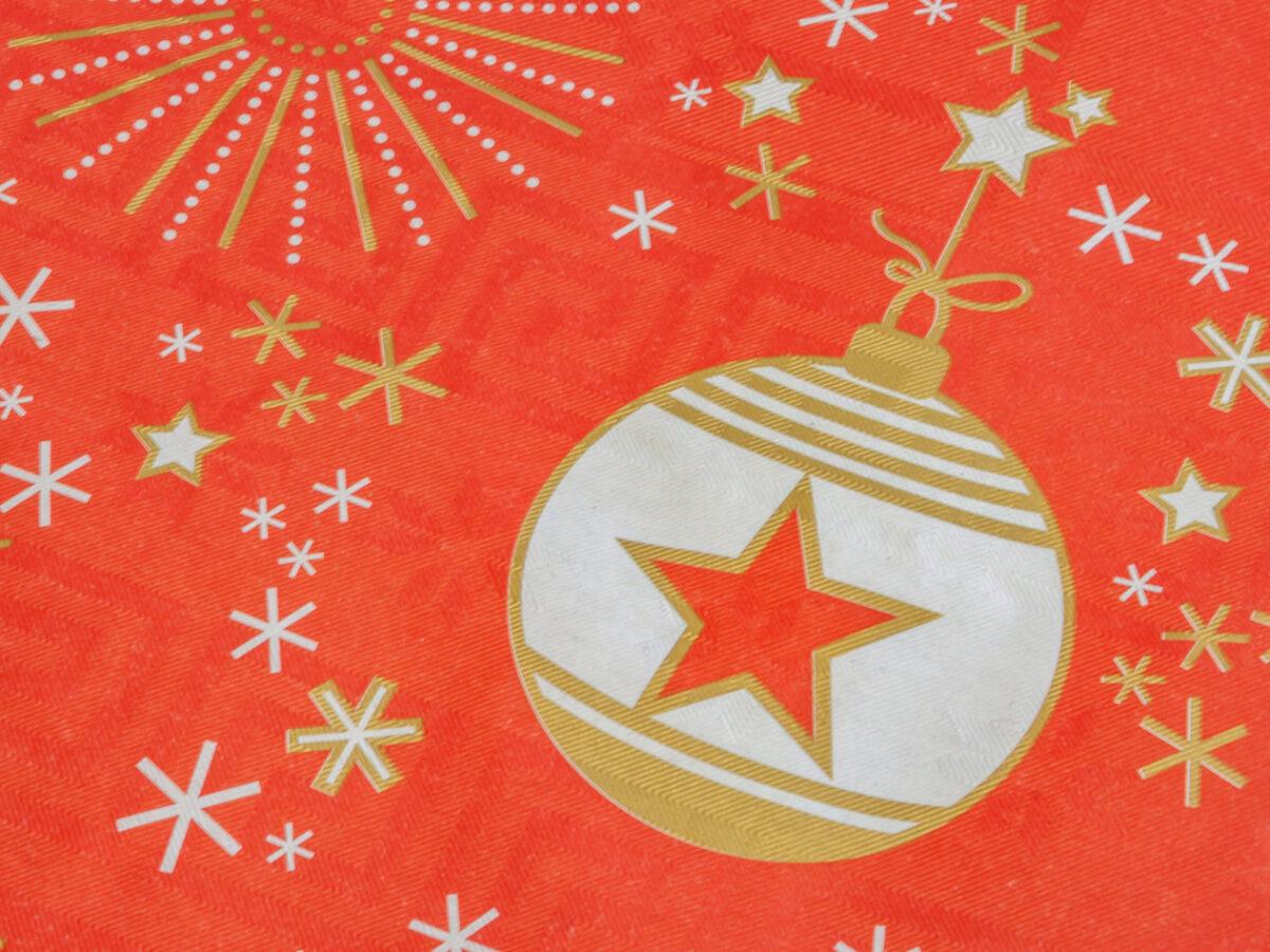 La table de Noël : praticité et style italien avec le linge de table jetable Papermon